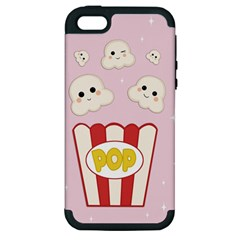 Cute Kawaii Popcorn Apple Iphone 5 Hardshell Case (pc+silicone) by Valentinaart