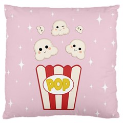 Cute Kawaii Popcorn Standard Flano Cushion Case (one Side) by Valentinaart