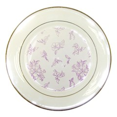 Beautiful,violet,floral,shabby Chic,pattern Porcelain Plates by 8fugoso