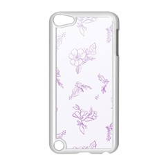 Beautiful,violet,floral,shabby Chic,pattern Apple Ipod Touch 5 Case (white) by 8fugoso