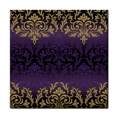 Art Nouveau,vintage,damask,gold,purple,antique,beautiful Tile Coasters by 8fugoso
