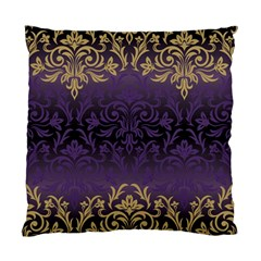Art Nouveau,vintage,damask,gold,purple,antique,beautiful Standard Cushion Case (two Sides) by 8fugoso