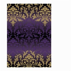 Art Nouveau,vintage,damask,gold,purple,antique,beautiful Small Garden Flag (two Sides) by 8fugoso