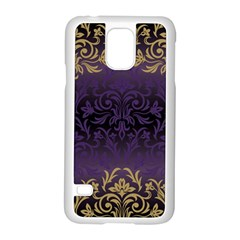 Art Nouveau,vintage,damask,gold,purple,antique,beautiful Samsung Galaxy S5 Case (white) by 8fugoso