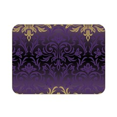 Art Nouveau,vintage,damask,gold,purple,antique,beautiful Double Sided Flano Blanket (mini)  by 8fugoso