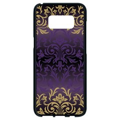 Art Nouveau,vintage,damask,gold,purple,antique,beautiful Samsung Galaxy S8 Black Seamless Case by 8fugoso