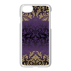 Art Nouveau,vintage,damask,gold,purple,antique,beautiful Apple Iphone 8 Seamless Case (white) by 8fugoso