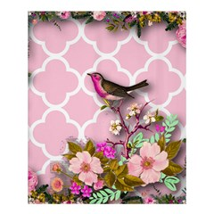 Shabby Chic, Floral,pink,birds,cute,whimsical Shower Curtain 60  X 72  (medium)  by 8fugoso