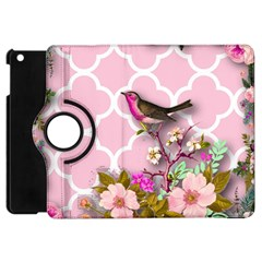 Shabby Chic, Floral,pink,birds,cute,whimsical Apple Ipad Mini Flip 360 Case by 8fugoso