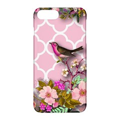 Shabby Chic, Floral,pink,birds,cute,whimsical Apple Iphone 8 Plus Hardshell Case by 8fugoso