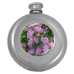 Lilacs 2 Round Hip Flask (5 Oz) by dawnsiegler