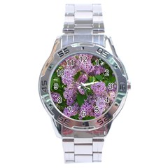 Lilacs 2 Stainless Steel Analogue Watch by dawnsiegler