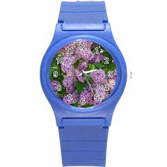 Lilacs 2 Round Plastic Sport Watch (s)