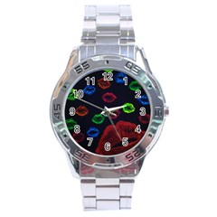 Hot Lips Stainless Steel Analogue Watch by dawnsiegler