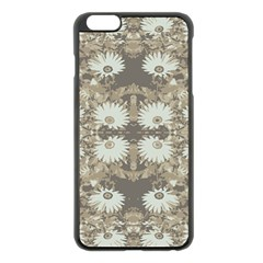 Vintage Daisy Floral Pattern Apple Iphone 6 Plus/6s Plus Black Enamel Case by dflcprints