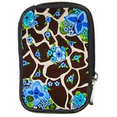 Floral Giraffe Print Compact Camera Cases
