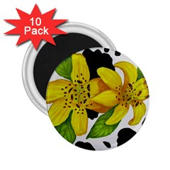 Floral Cow Print 2 25  Magnets (10 Pack)  by dawnsiegler