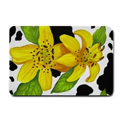 Floral Cow Print Small Doormat