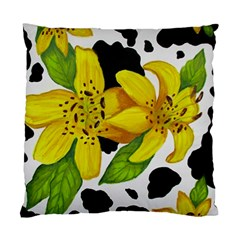 Floral Cow Print Standard Cushion Case (one Side) by dawnsiegler