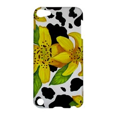 Floral Cow Print Apple Ipod Touch 5 Hardshell Case by dawnsiegler