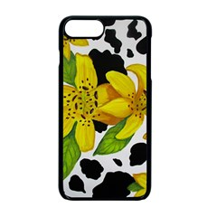 Floral Cow Print Apple Iphone 7 Plus Seamless Case (black)