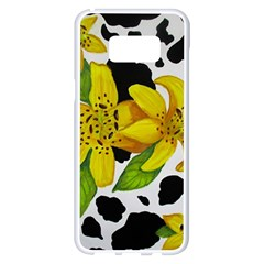 Floral Cow Print Samsung Galaxy S8 Plus White Seamless Case by dawnsiegler