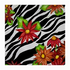 Floral Zebra Print Medium Glasses Cloth by dawnsiegler