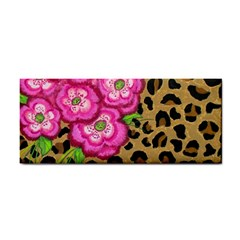 Floral Leopard Print Cosmetic Storage Cases by dawnsiegler
