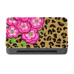 Floral Leopard Print Memory Card Reader With Cf by dawnsiegler