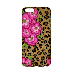 Floral Leopard Print Apple Iphone 6/6s Hardshell Case by dawnsiegler