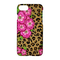 Floral Leopard Print Apple Iphone 7 Hardshell Case by dawnsiegler