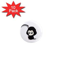 Cute Grim Reaper 1  Mini Magnet (10 Pack)  by Valentinaart