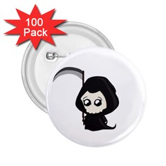 Cute Grim Reaper 2 25  Buttons (100 Pack)