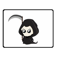 Cute Grim Reaper Fleece Blanket (small) by Valentinaart