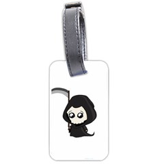 Cute Grim Reaper Luggage Tags (two Sides) by Valentinaart