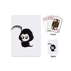 Cute Grim Reaper Playing Cards (mini)  by Valentinaart