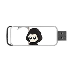 Cute Grim Reaper Portable Usb Flash (two Sides) by Valentinaart