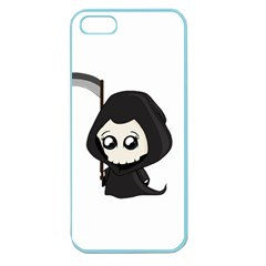 Cute Grim Reaper Apple Seamless Iphone 5 Case (color) by Valentinaart