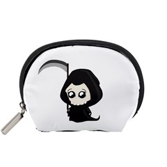 Cute Grim Reaper Accessory Pouches (small)  by Valentinaart