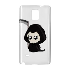 Cute Grim Reaper Samsung Galaxy Note 4 Hardshell Case by Valentinaart