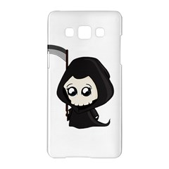 Cute Grim Reaper Samsung Galaxy A5 Hardshell Case  by Valentinaart