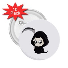 Cute Grim Reaper 2 25  Buttons (10 Pack)  by Valentinaart