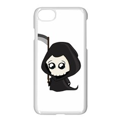 Cute Grim Reaper Apple Iphone 8 Seamless Case (white) by Valentinaart