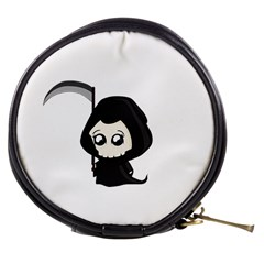 Cute Grim Reaper Mini Makeup Bags by Valentinaart