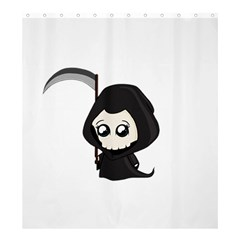 Cute Grim Reaper Shower Curtain 66  X 72  (large)  by Valentinaart