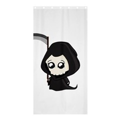 Cute Grim Reaper Shower Curtain 36  X 72  (stall)  by Valentinaart