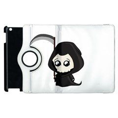 Cute Grim Reaper Apple Ipad 2 Flip 360 Case