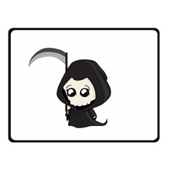 Cute Grim Reaper Double Sided Fleece Blanket (small)  by Valentinaart