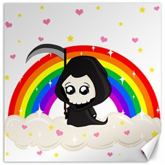 Cute Grim Reaper Canvas 12  X 12   by Valentinaart