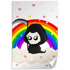 Cute Grim Reaper Canvas 20  X 30   by Valentinaart